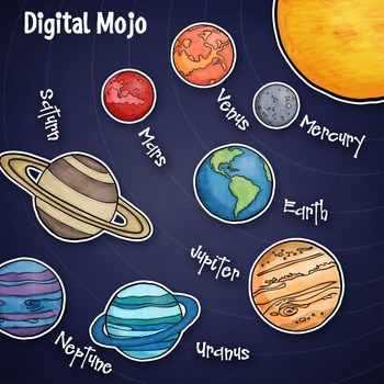 Galaxy clipart 8 planet. Solar system and clip