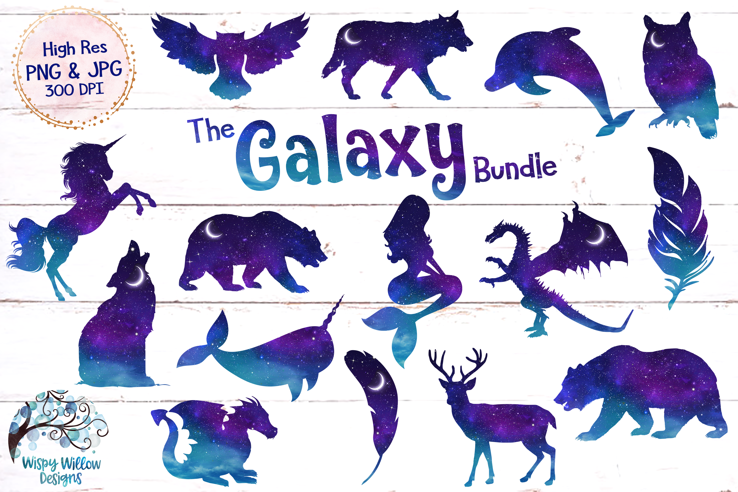 Galaxy clipart amazing art. The bundle png and