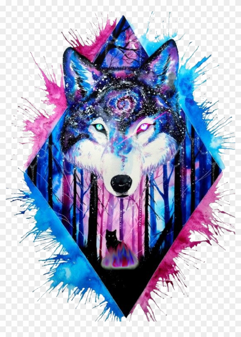 Wolf hd png download. Galaxy clipart amazing art