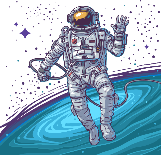 Galaxy clipart astronaut. Sky boy stars floating