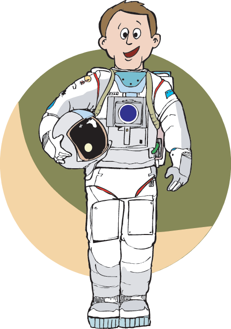 Astronauts resources science trek. Galaxy clipart astronaut