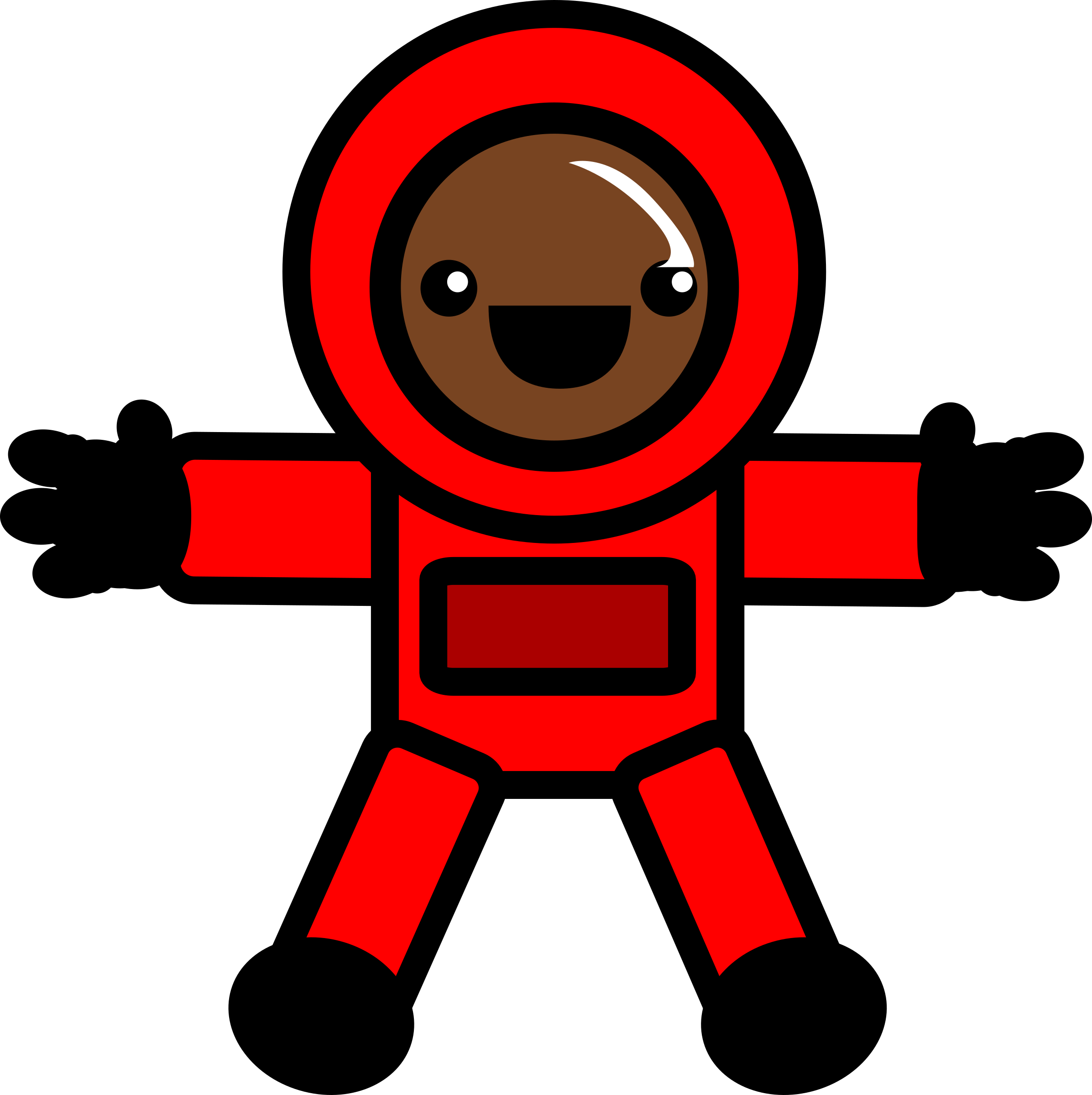 Galaxy clipart astronaut. Red space suit icons