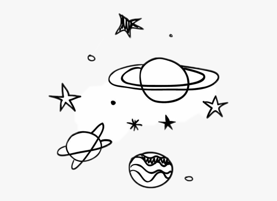 Planet clipart star. Black stars white sky