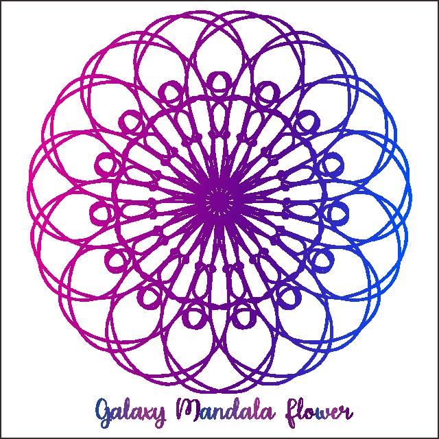 Mandala flower png and. Galaxy clipart border