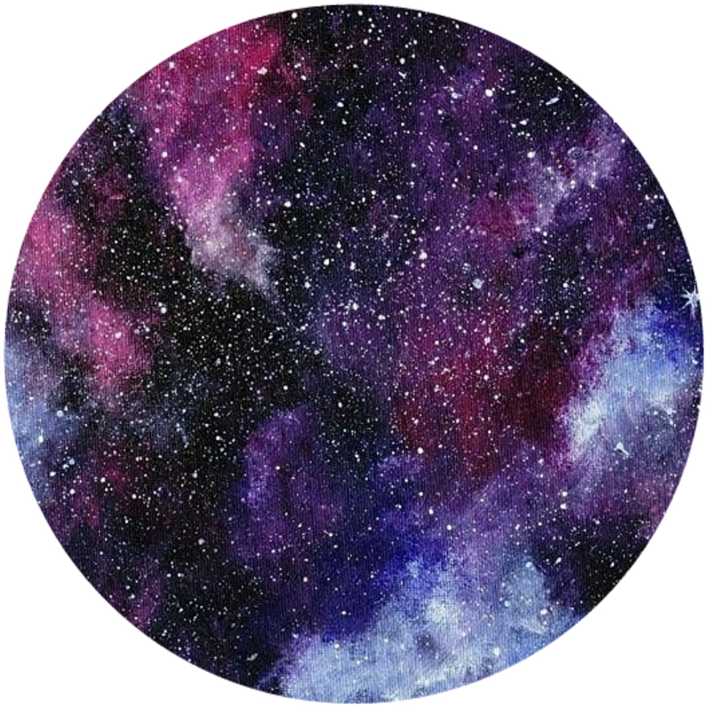Galaxy clipart circle. Icon space sticker by