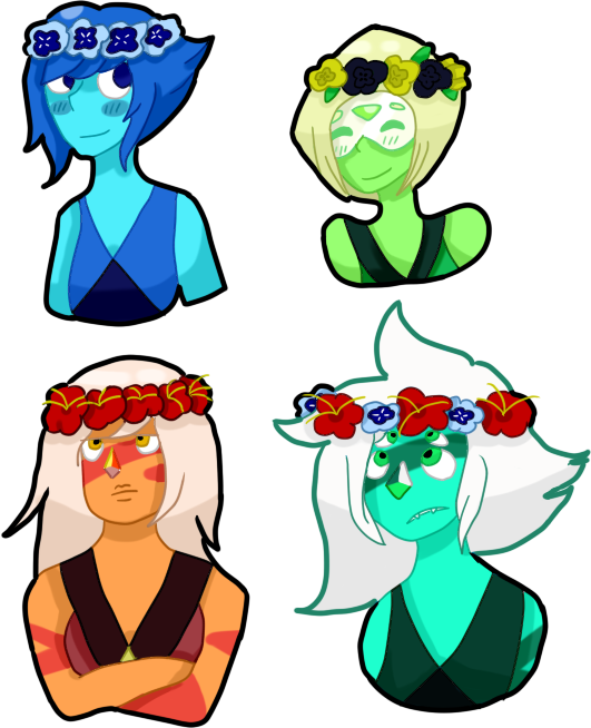 Homeworld trio stickers by. Galaxy clipart flower crown