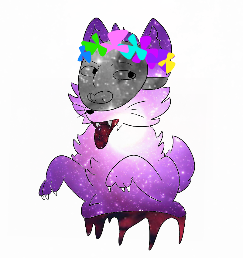 Galaxy clipart flower crown. Kedamono vrs by bisexual