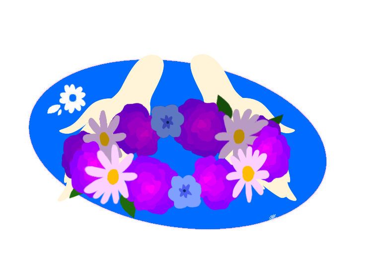 Galaxy clipart flower crown. For you by chaosolus