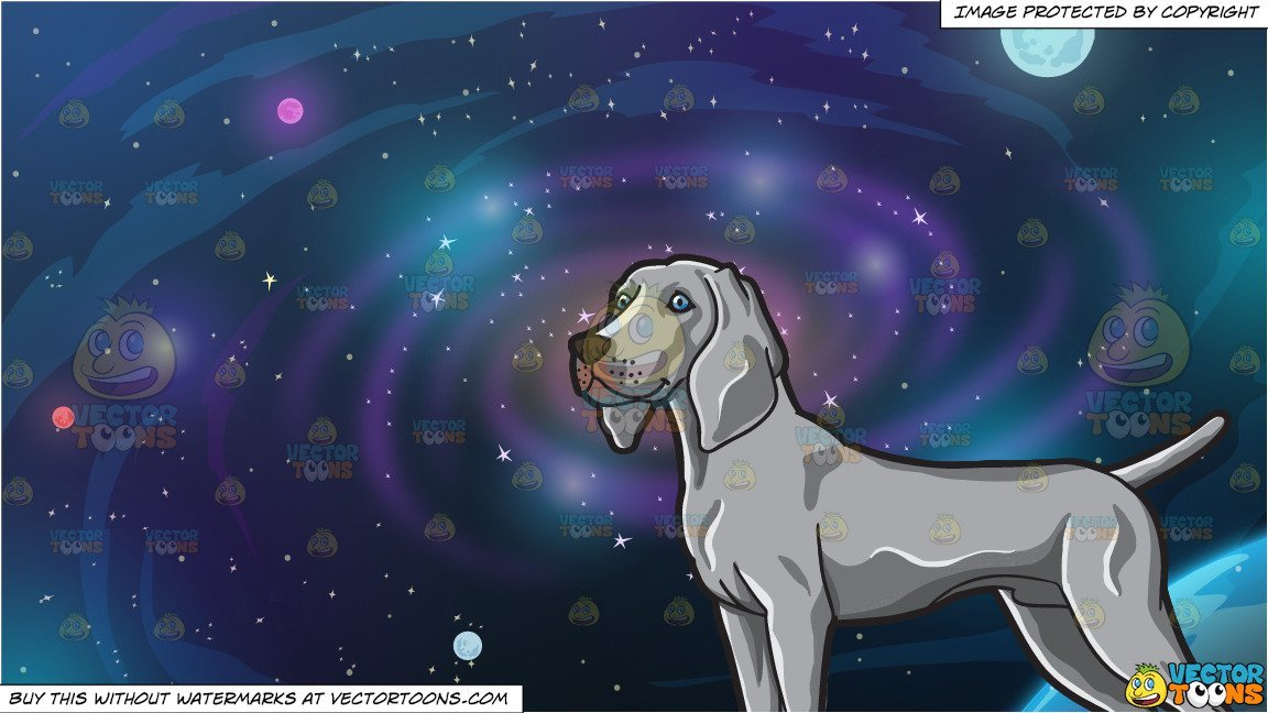 A hound with nice. Galaxy clipart form