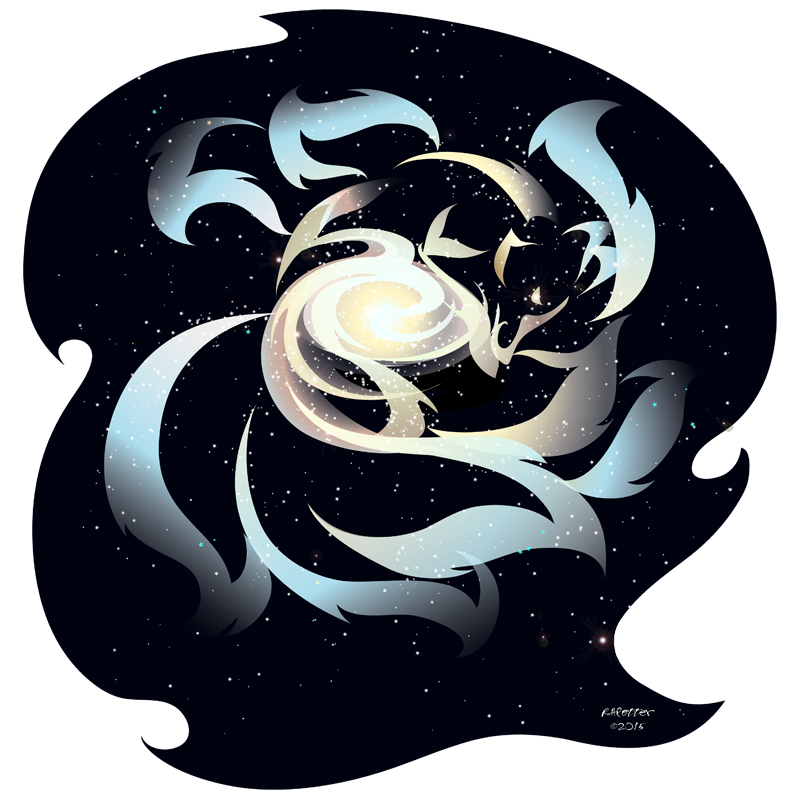 Kitsune by rhpotter on. Galaxy clipart galactic