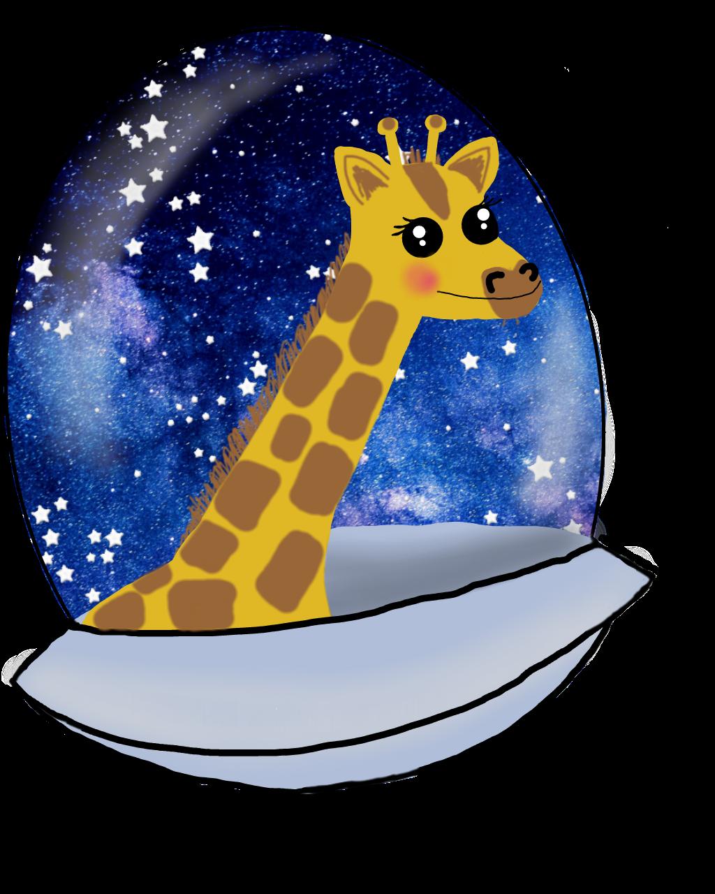 Ftegiraffe giraffe cosmic space. Galaxy clipart galactic