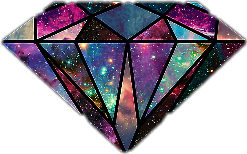 Diamond galaxy. Clipart transparent