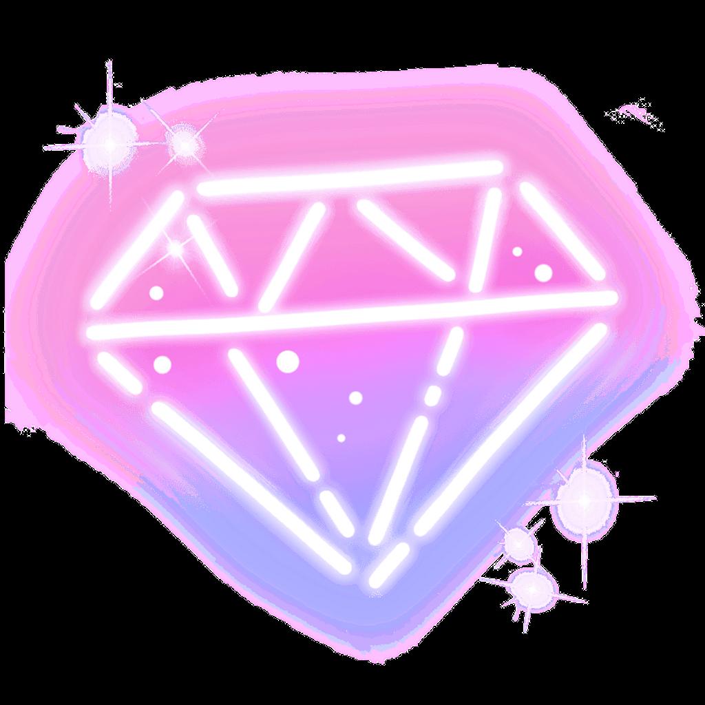 Galaxy clipart galaxy diamond. Colorful cute lightning neon