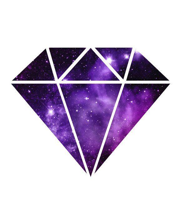 Galaxy clipart galaxy diamond. Space nebula print magenta