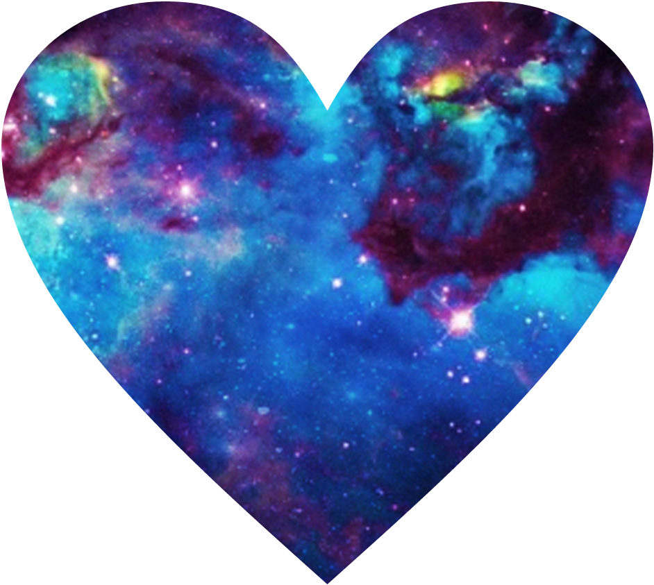 Galaxy clipart heart. Some old adesives