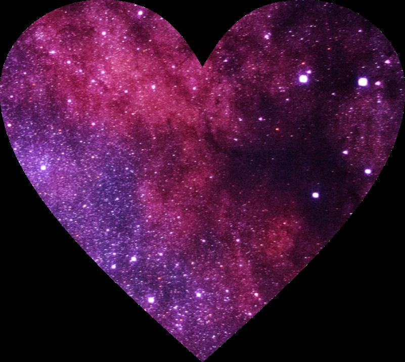 Universe love remixit . Galaxy clipart heart