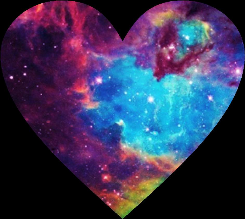 Galaxy clipart heart. Sticker by l i