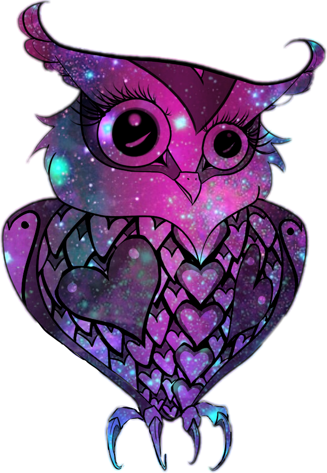Galaxy clipart hipster. Owl cute sticker by