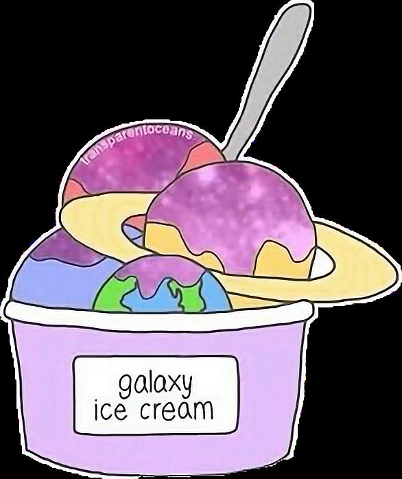 Galaxy clipart ice cream. Planet cute icecream tumblr