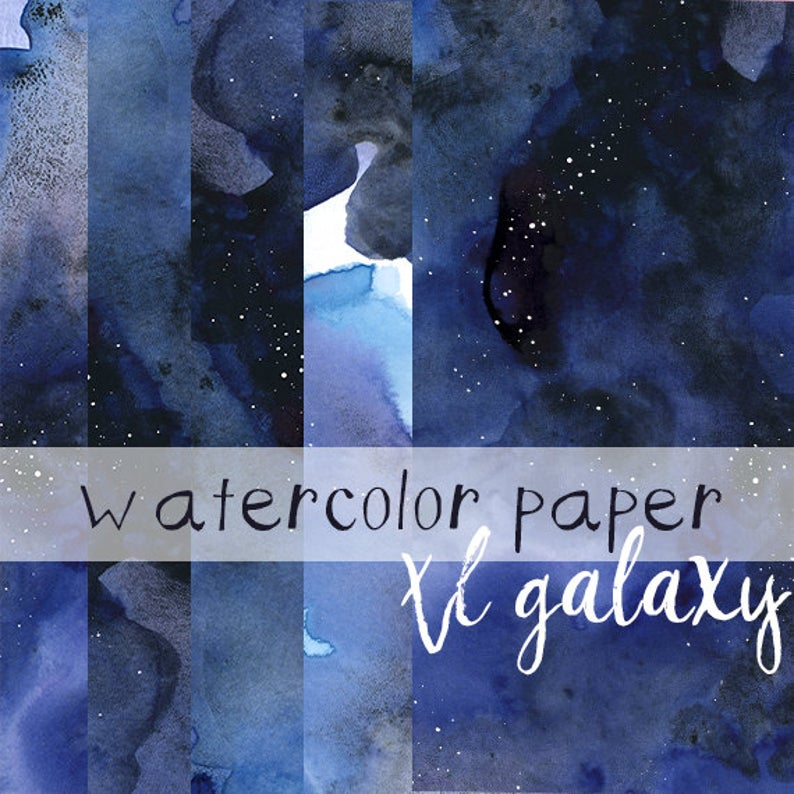 Galaxy clipart large. Space watercolor paper digital
