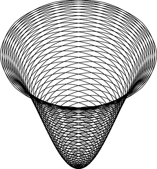 Golden spiral cone clip. Galaxy clipart line art