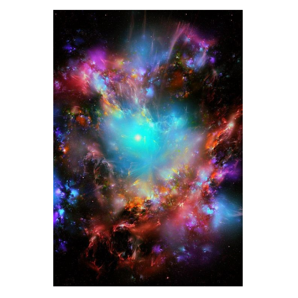 Stars effect colors background. Galaxy clipart nebula