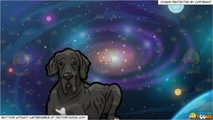 Galaxy clipart old. An great dane and