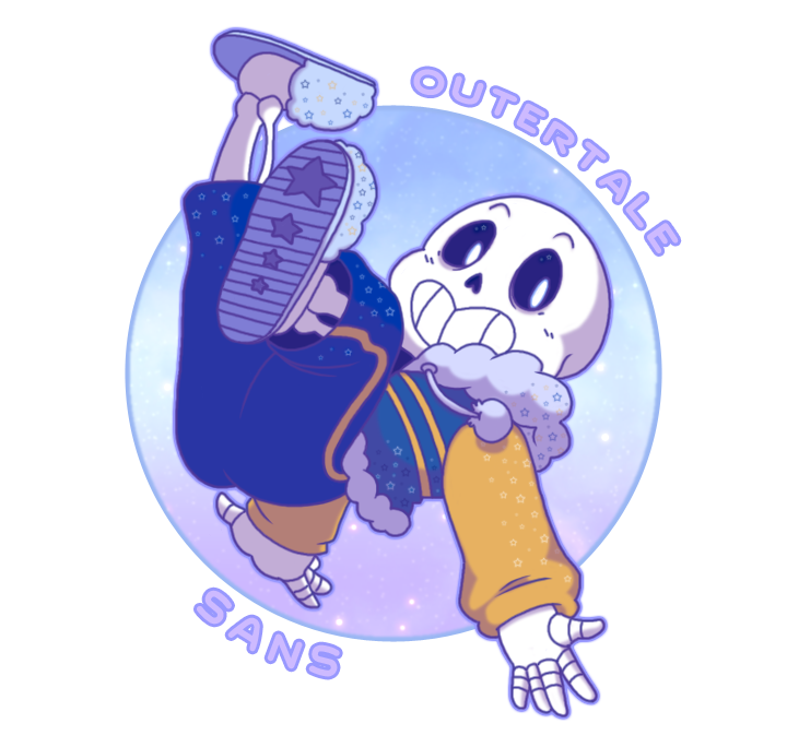 Outertale sans by akaitsukii. Galaxy clipart outter
