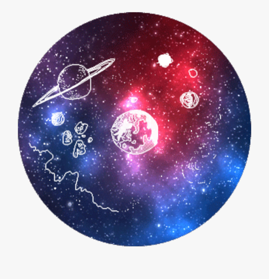 Planets clipart galaxy. Icon tumblr milky way