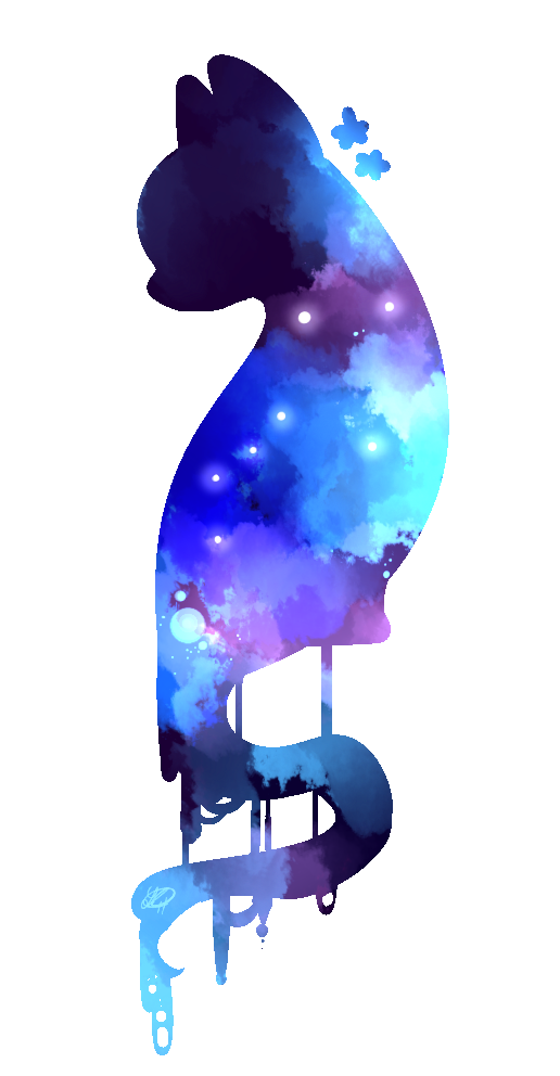 Image cat by shadowaphelion. Galaxy clipart purple galaxy