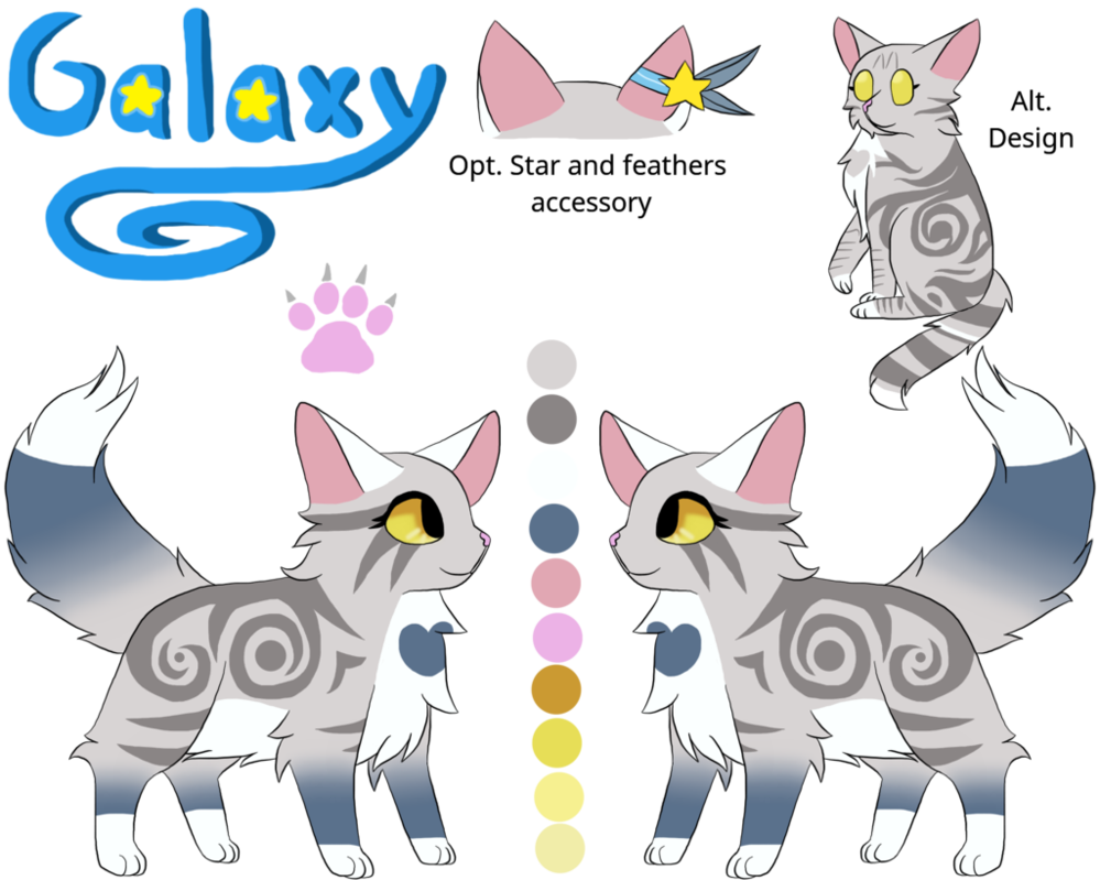 Galaxy clipart realistic star. Main fursona by tropicbird