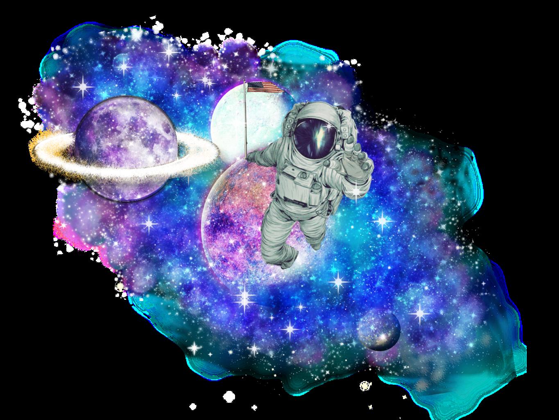 Galaxy clipart saturn. A far away moon