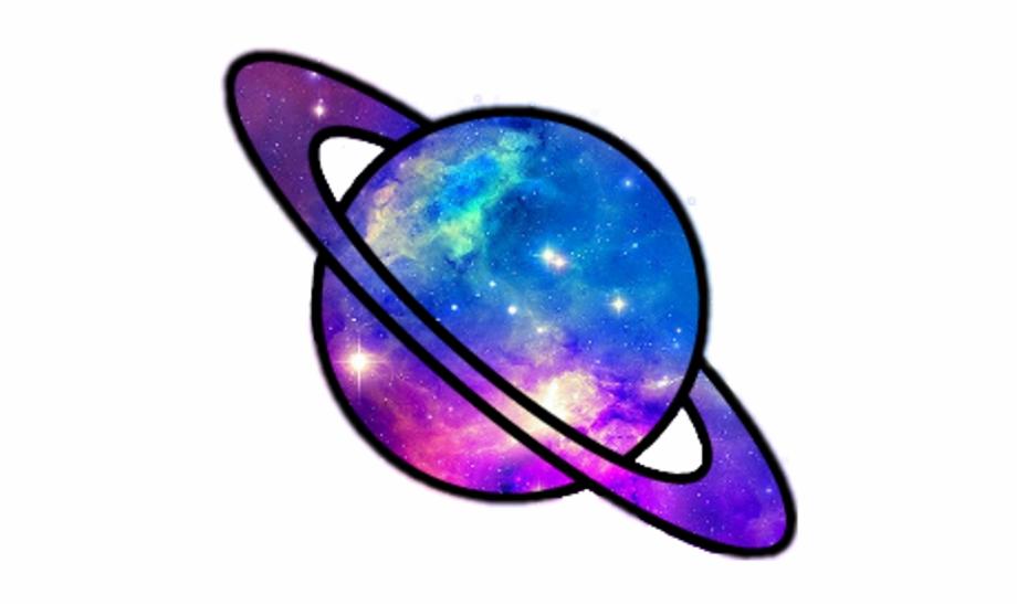 Galaxy clipart saturn. Transparent tumblr clip art