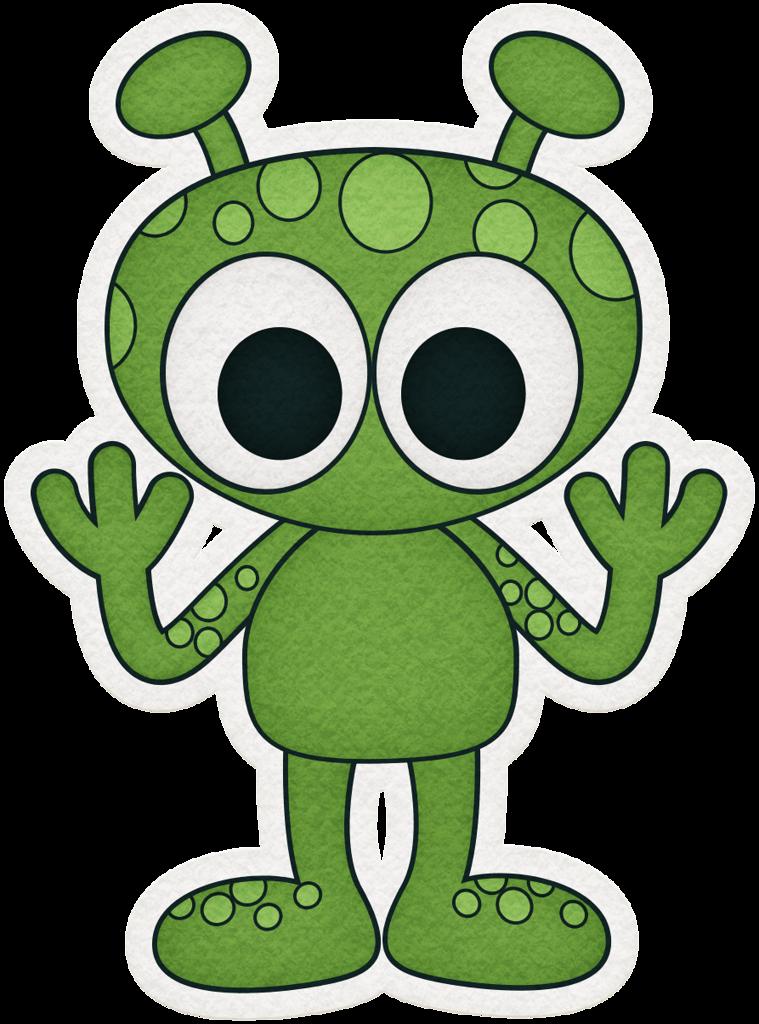 Kaagard overthemoon alien sticker. Galaxy clipart shaped