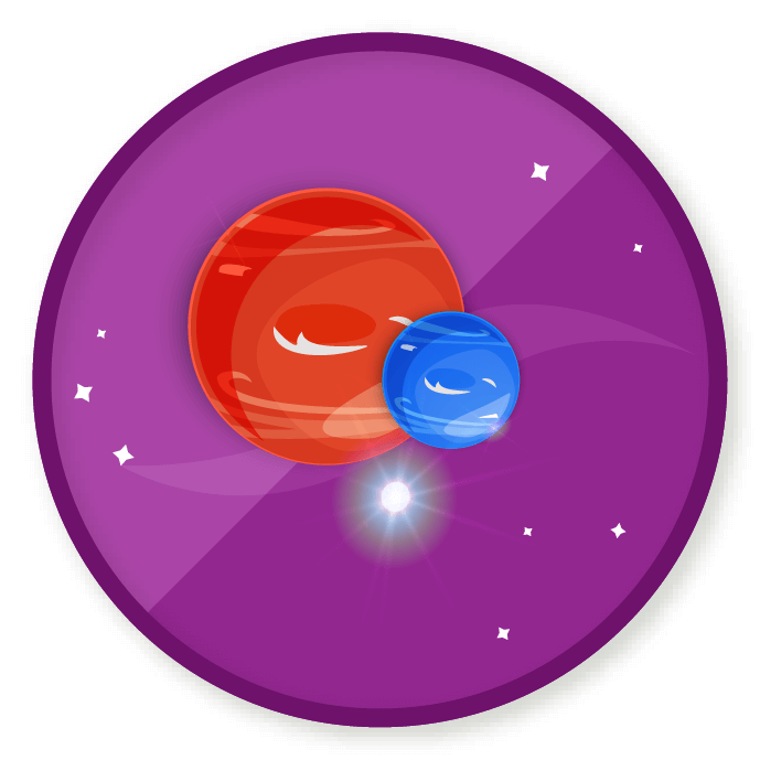 Wittywe win a badge. Galaxy clipart shoot for moon