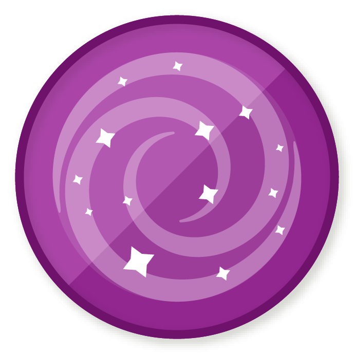 Galaxy clipart shoot for moon. Wittywe win a badge