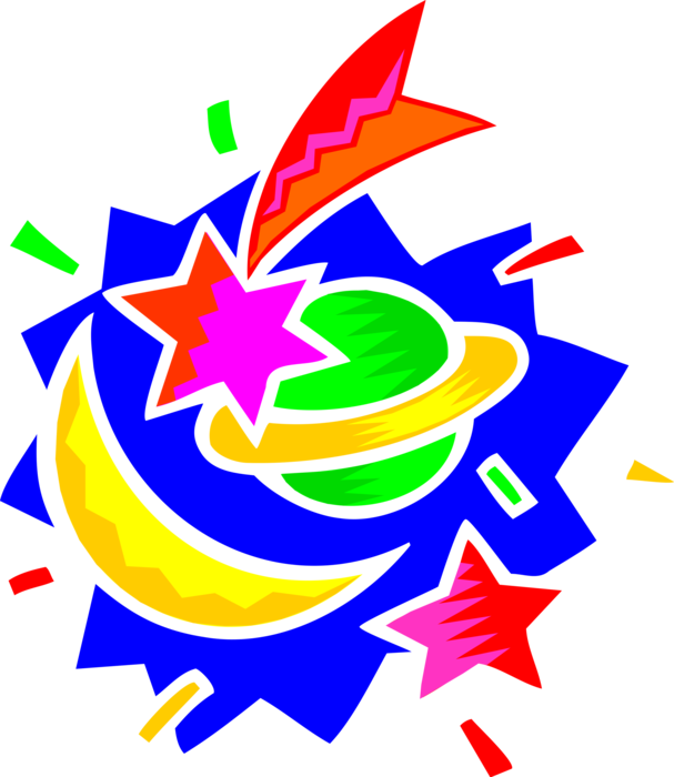 Galaxy clipart shoot for moon. Planet with and shooting