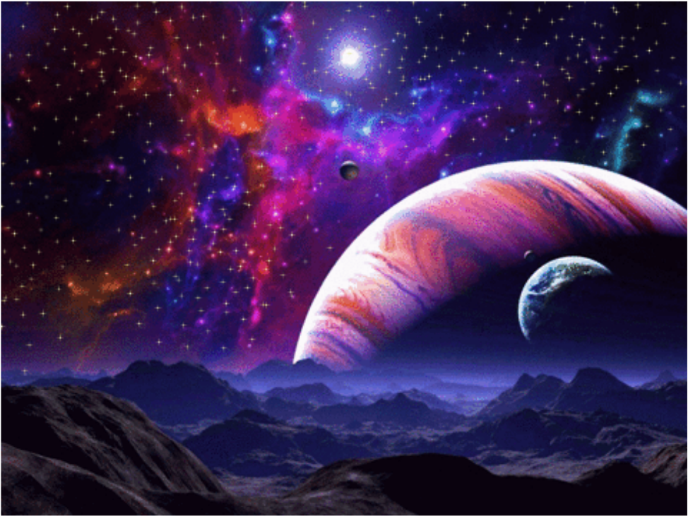 Galaxy clipart space. Background overlay planets stars