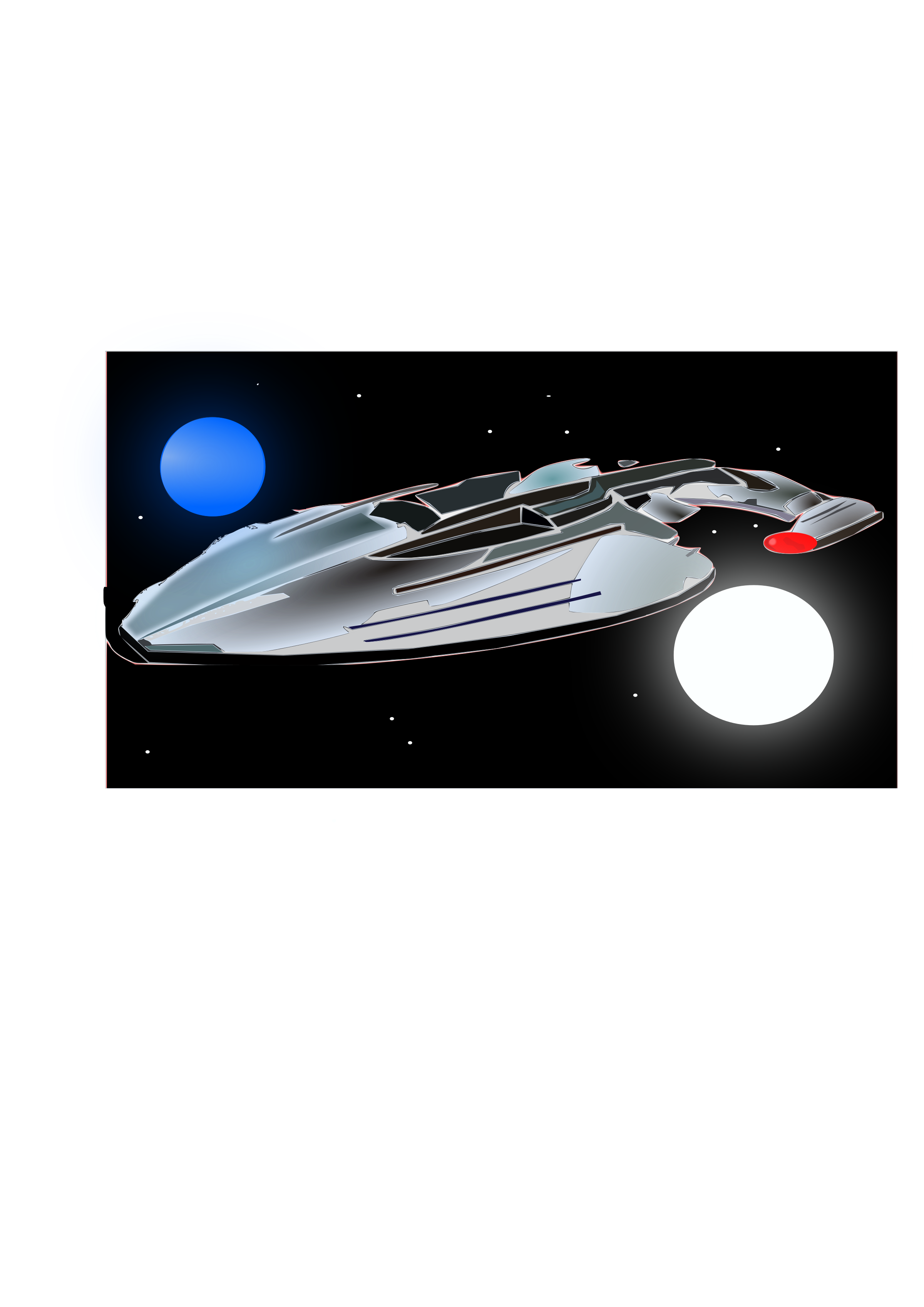 Galaxy clipart space scene. My first inkscape big