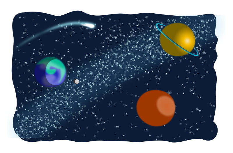 Sketched medium image png. Galaxy clipart space scene