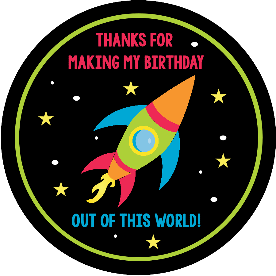 Planet clipart space theme. Birthday party invitations pack