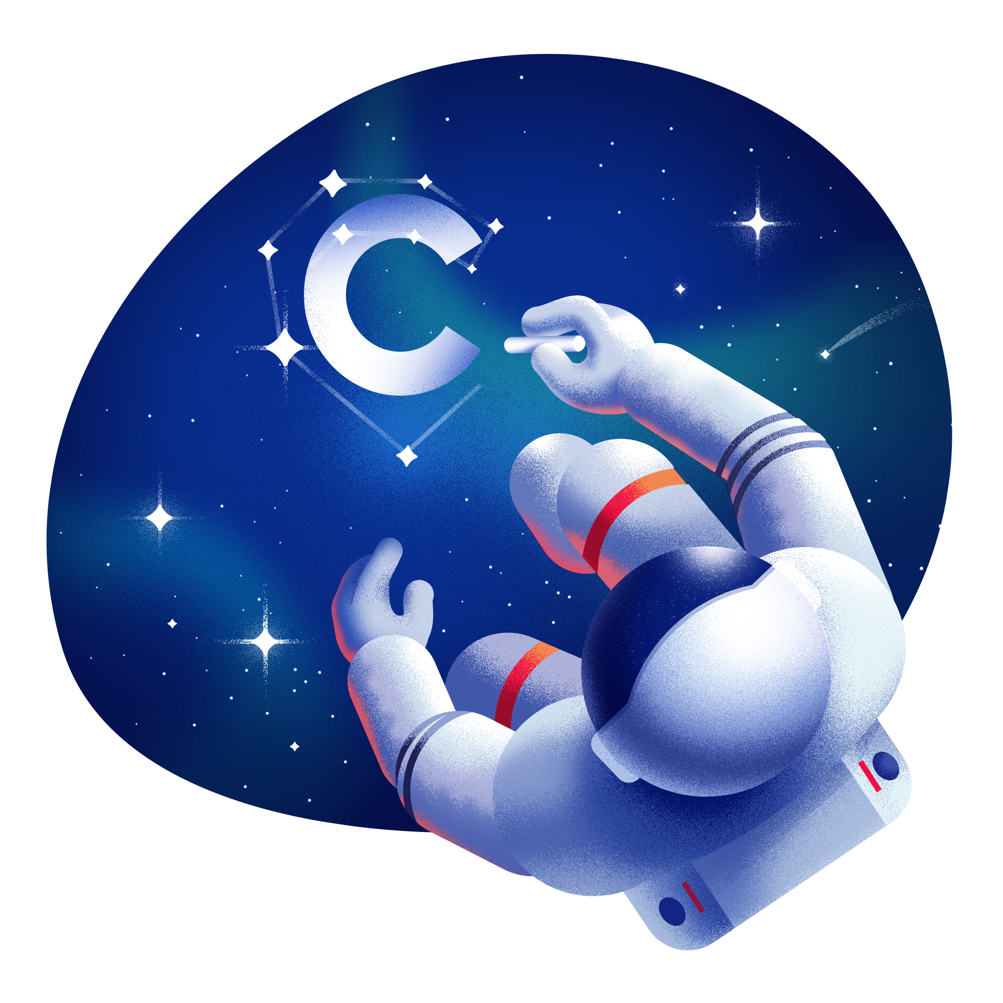 Illustrations on behance . Galaxy clipart space themed