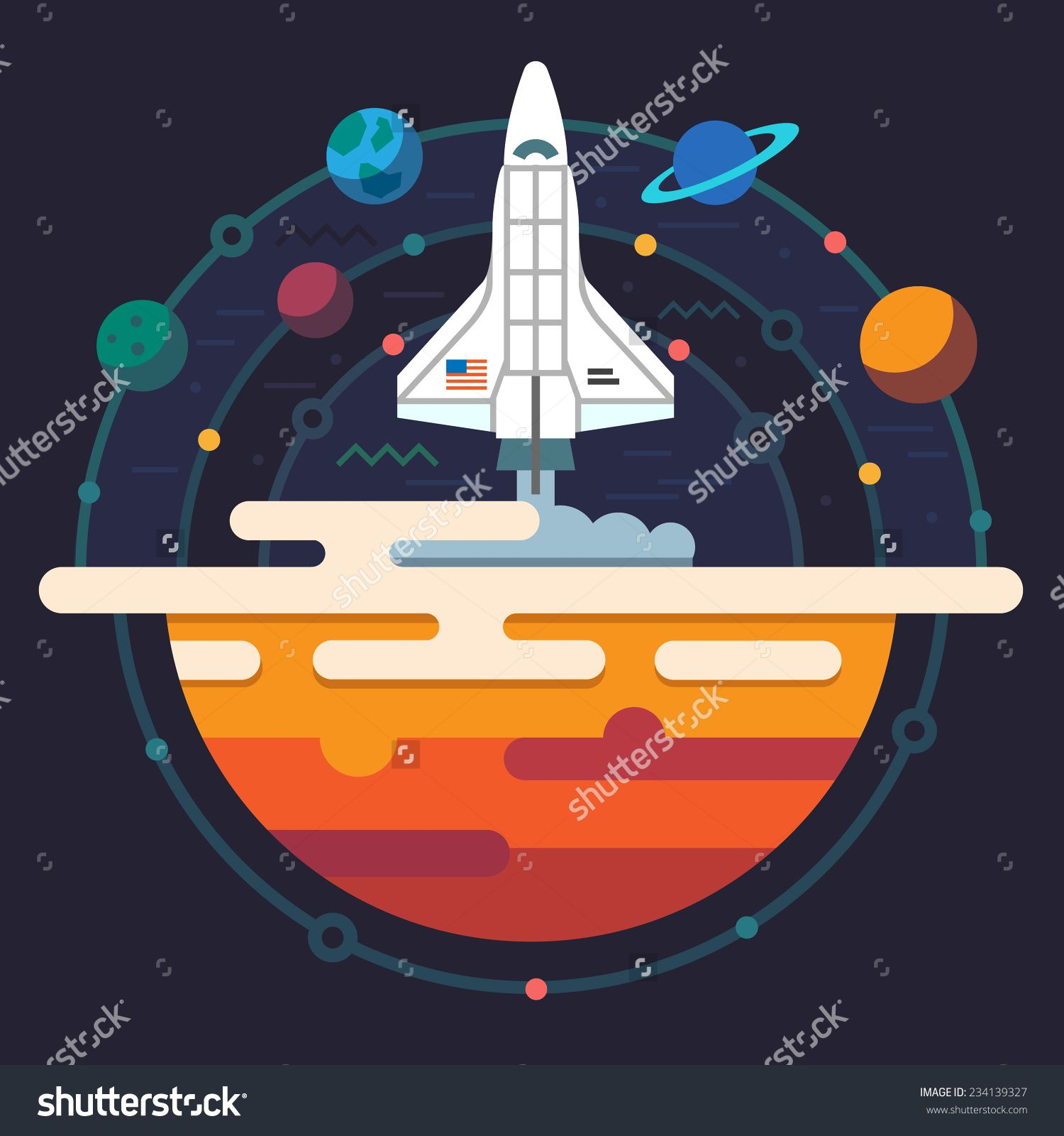 Illustration planets of solar. Galaxy clipart space travel