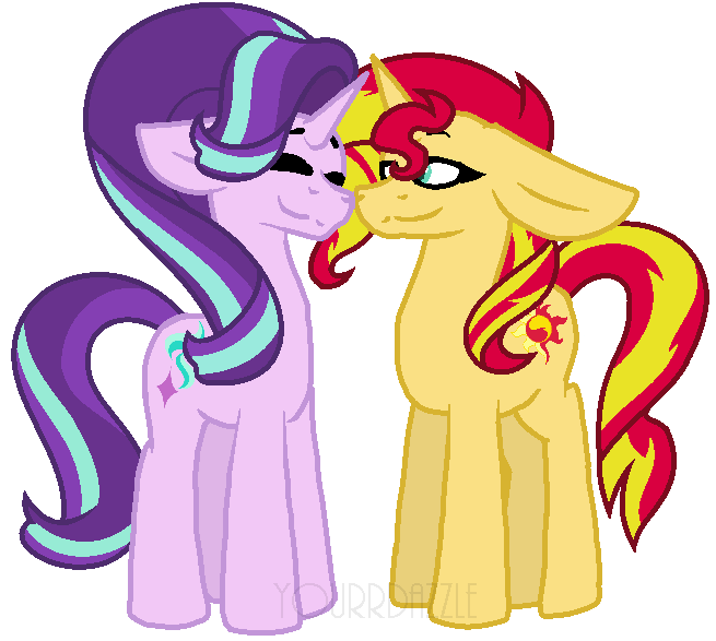 Galaxy clipart starlight. Glimmer x sunset shimmer