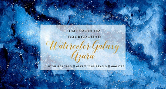 Galaxy clipart stary night. Navy blue watercolor starry