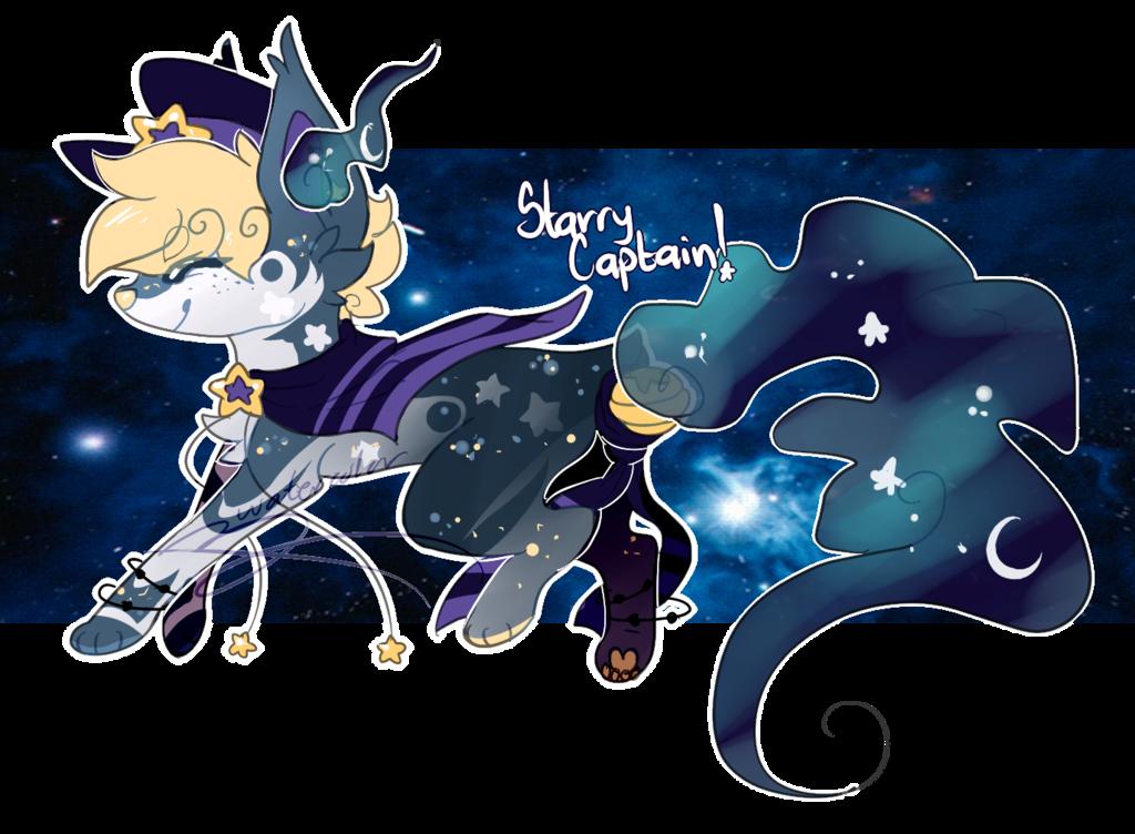Starry captain soulfox adoptable. Galaxy clipart stary night