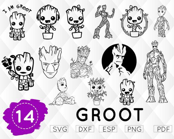 Groot baby i am. Galaxy clipart svg