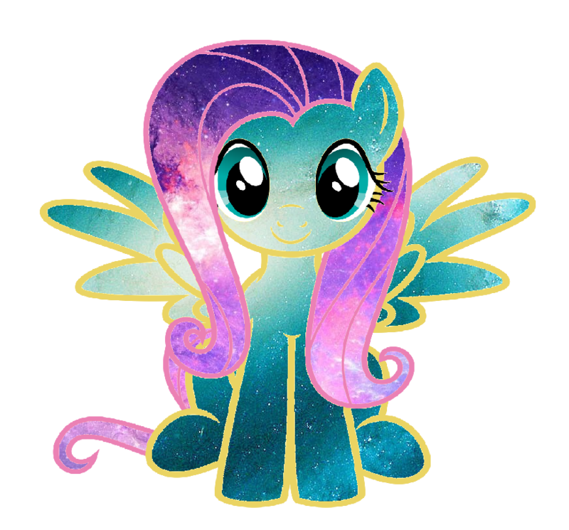 Mane flutters by qiiitch. Galaxy clipart teal