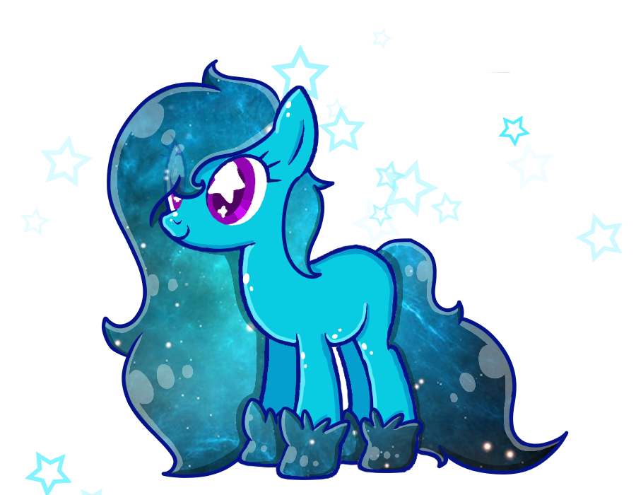 Galaxy clipart teal. Pony adopt by reallyevilhoopa