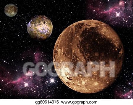 Drawing planets aligned gg. Galaxy clipart three